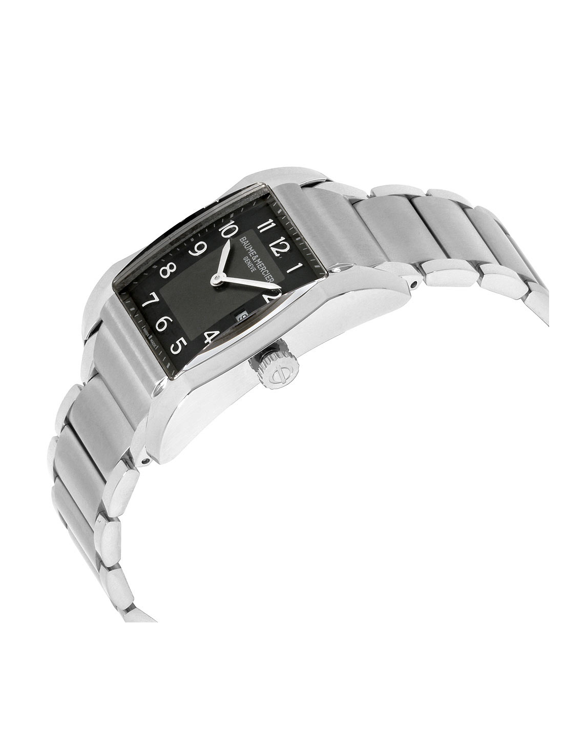 KarmaGear: Mercier Hampton Black Dial Stainless Steel Ladies Watch 10021
