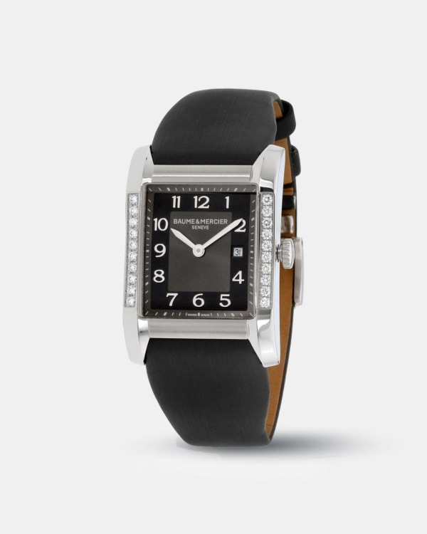 KarmaGear: Baume Mercier Hampton Black Dial Satin Strap Ladies Watch 10022
