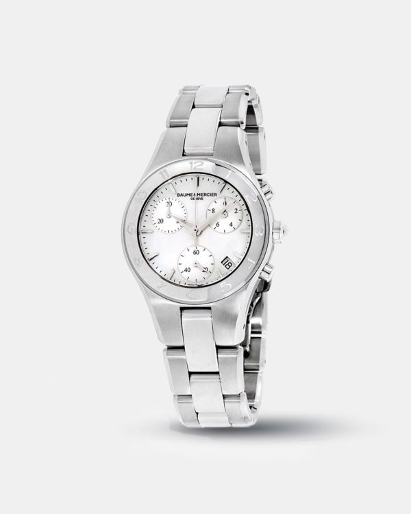 KarmaGear: Baume & Mercier Linea MOP Dial Stainless Steel Ladies Watch 10012