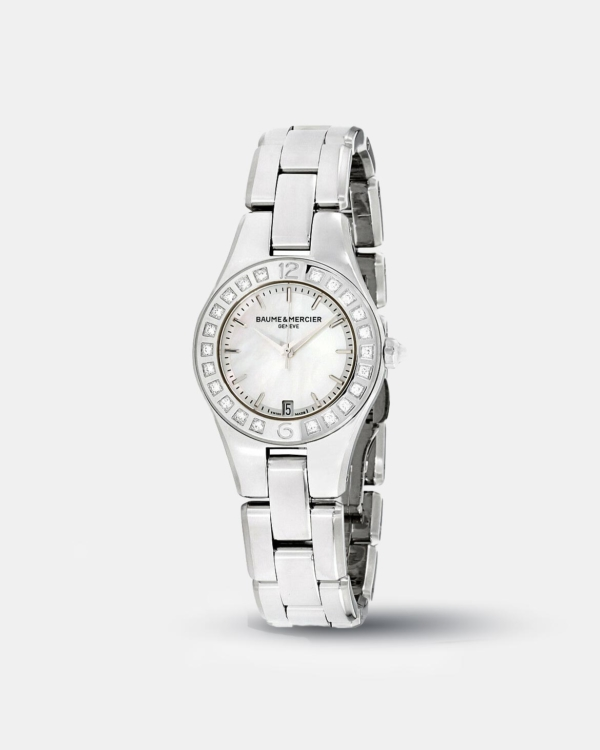 KarmaGear: Baume & Mercier Linea MOP Dial Stainless Steel Ladies Watch 10078