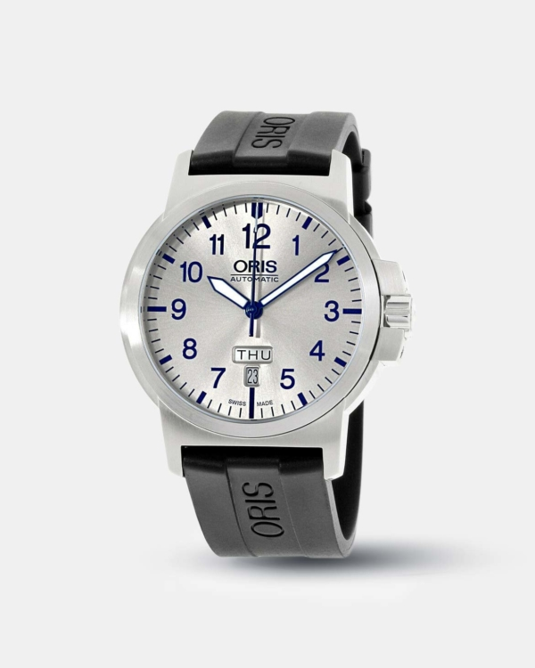 Oris BC3 Silver Dial Silicone Strap Men's Watch