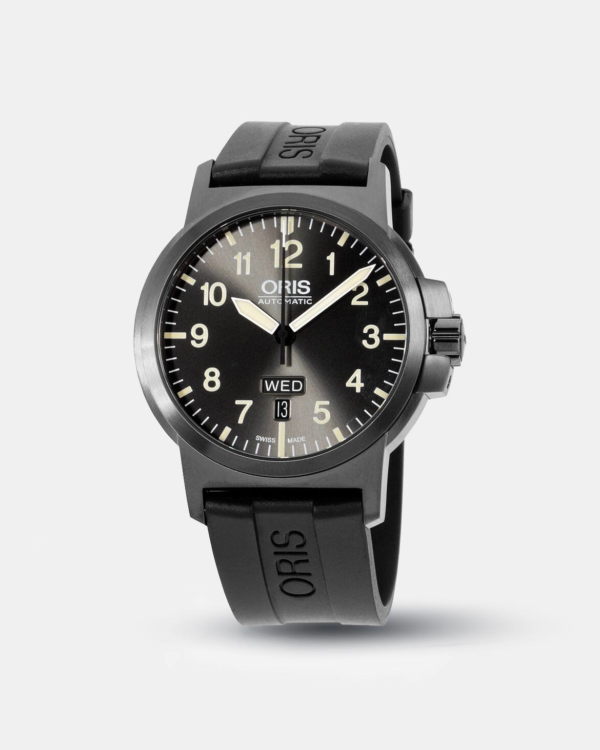 Oris BC3 Grey Dial Silicone Strap Men's Watch