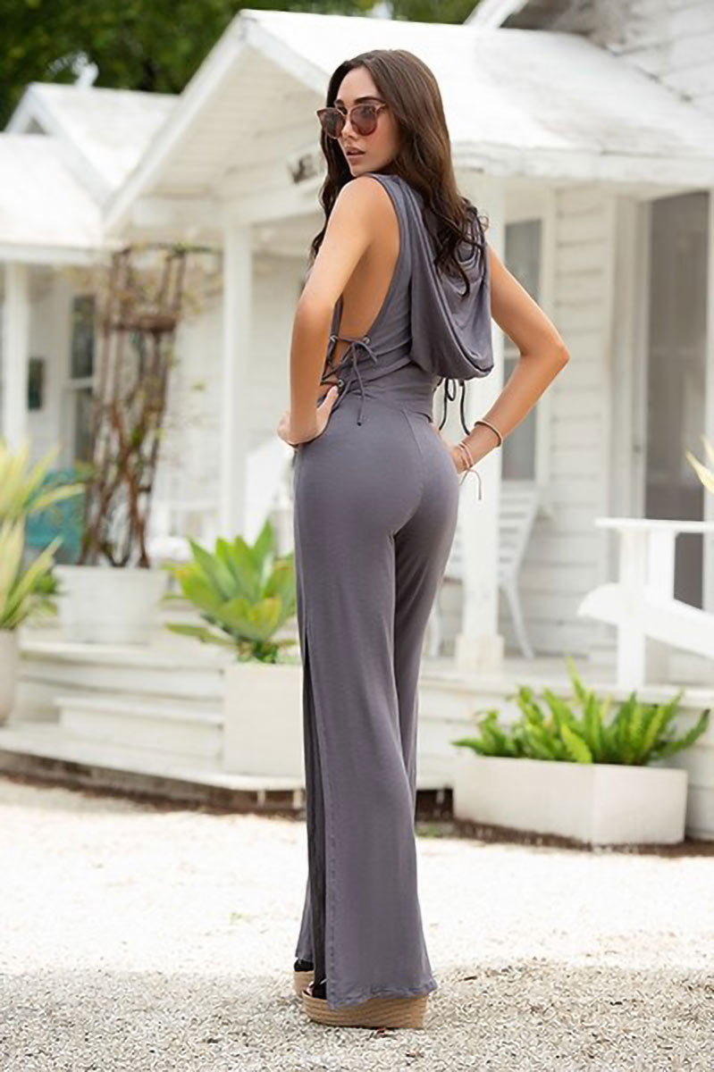 Mapale Grey Jumpsuit with Hoodie 3