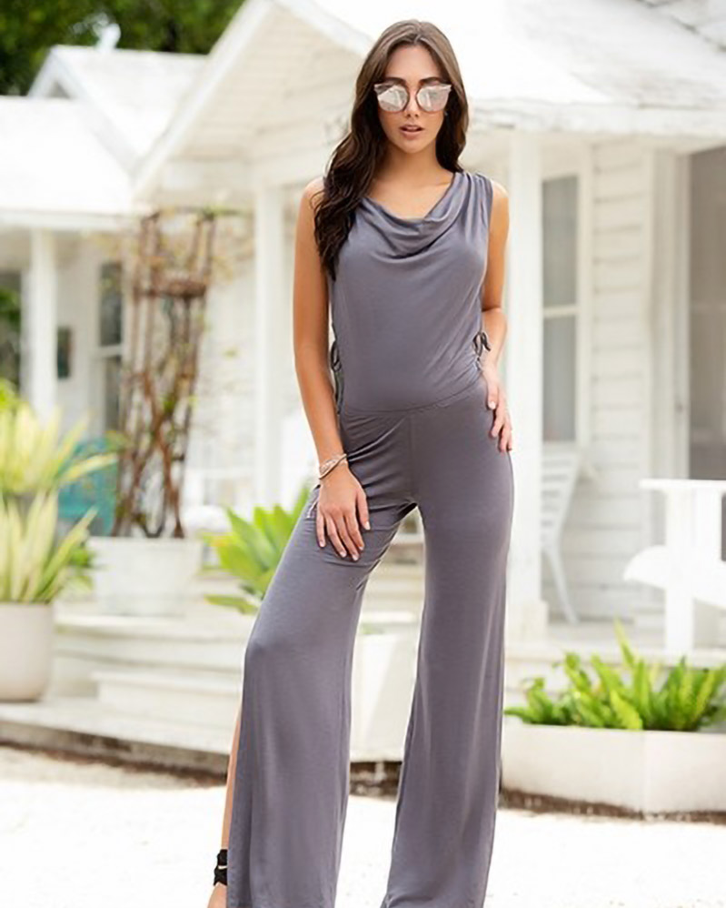 Mapale Grey Jumpsuit with Hoodie 1