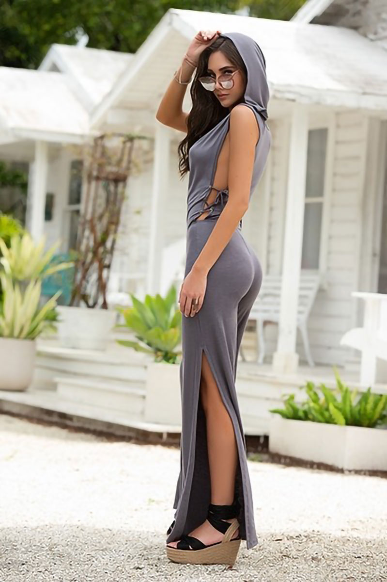 Mapale Grey Jumpsuit with Hoodie 2