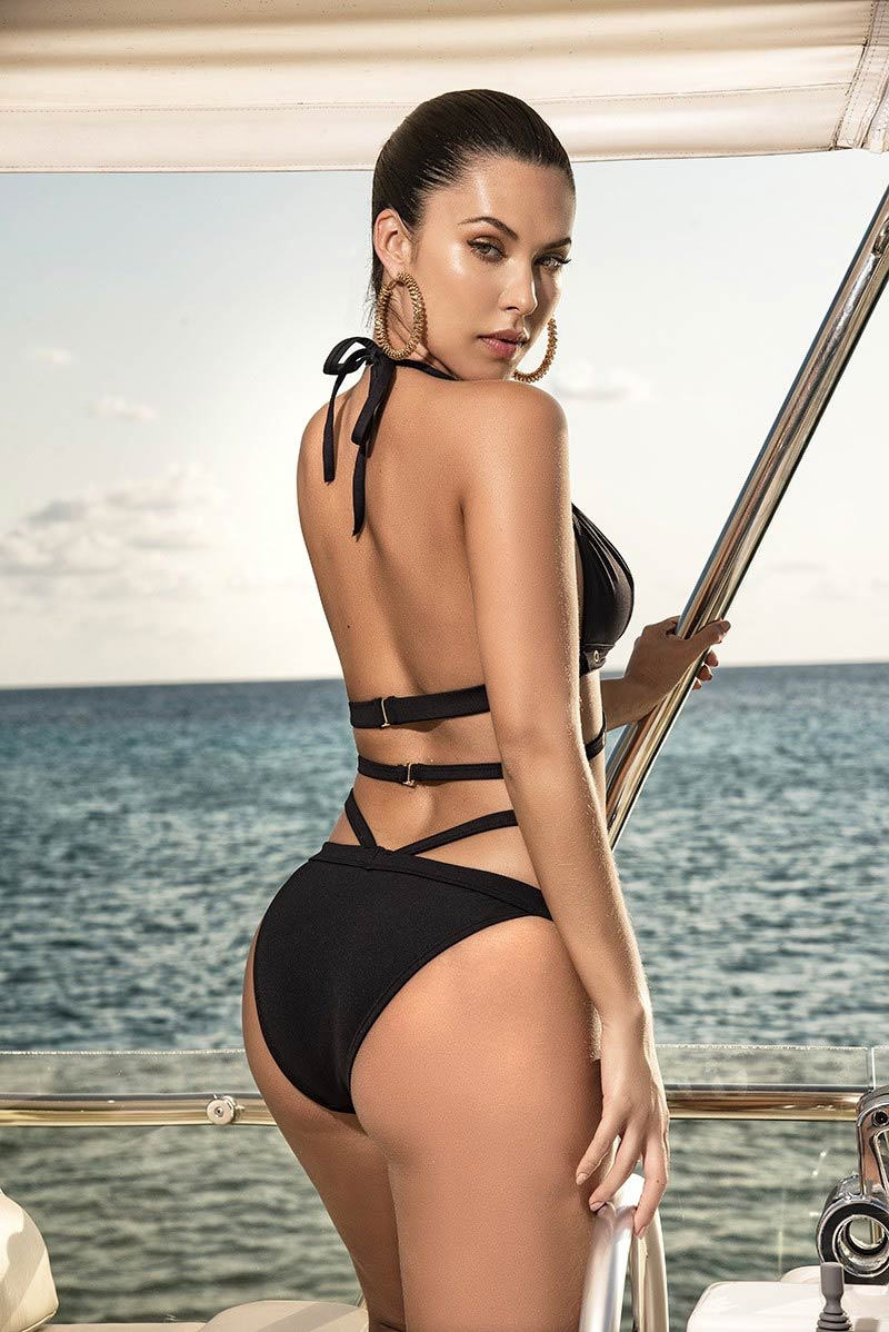 Mapale Black Strappy Two-Piece Swimsuit 2