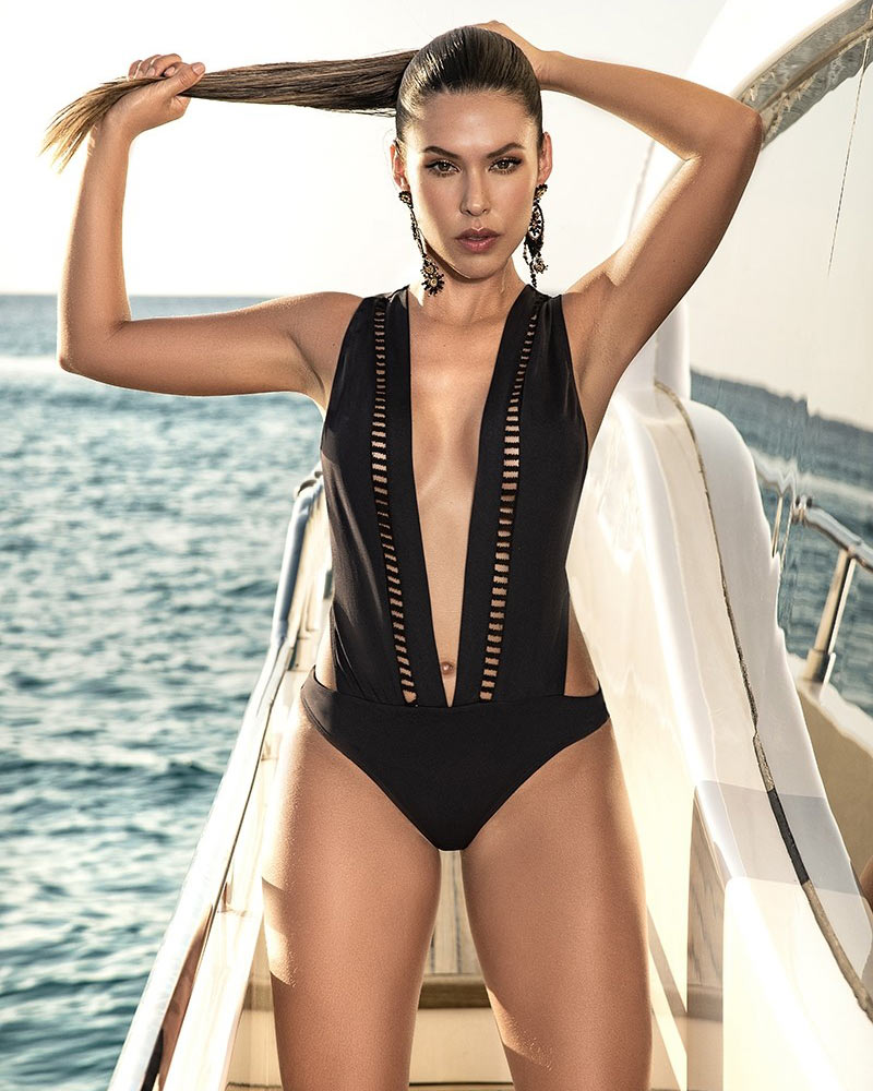 Mapale Black One-Piece Swimsuit 1