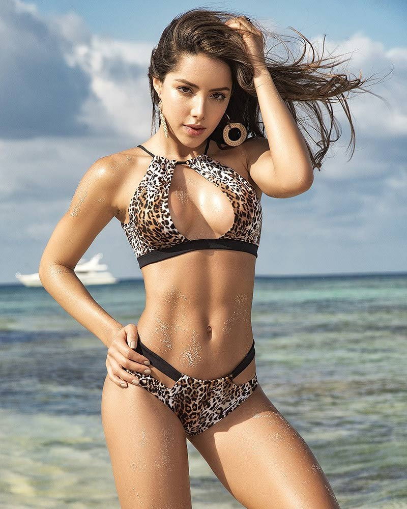 Mapale Animal Print Two-Piece Swimsuit 1