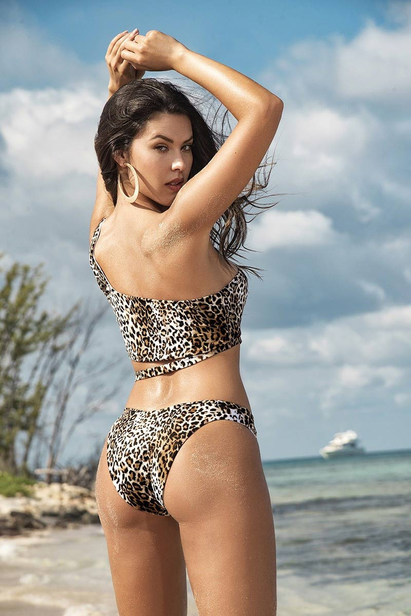 Mapale Animal Print Strappy Swimsuit 2