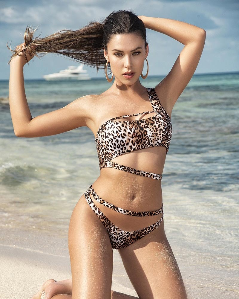 Mapale Animal Print Strappy Swimsuit 1