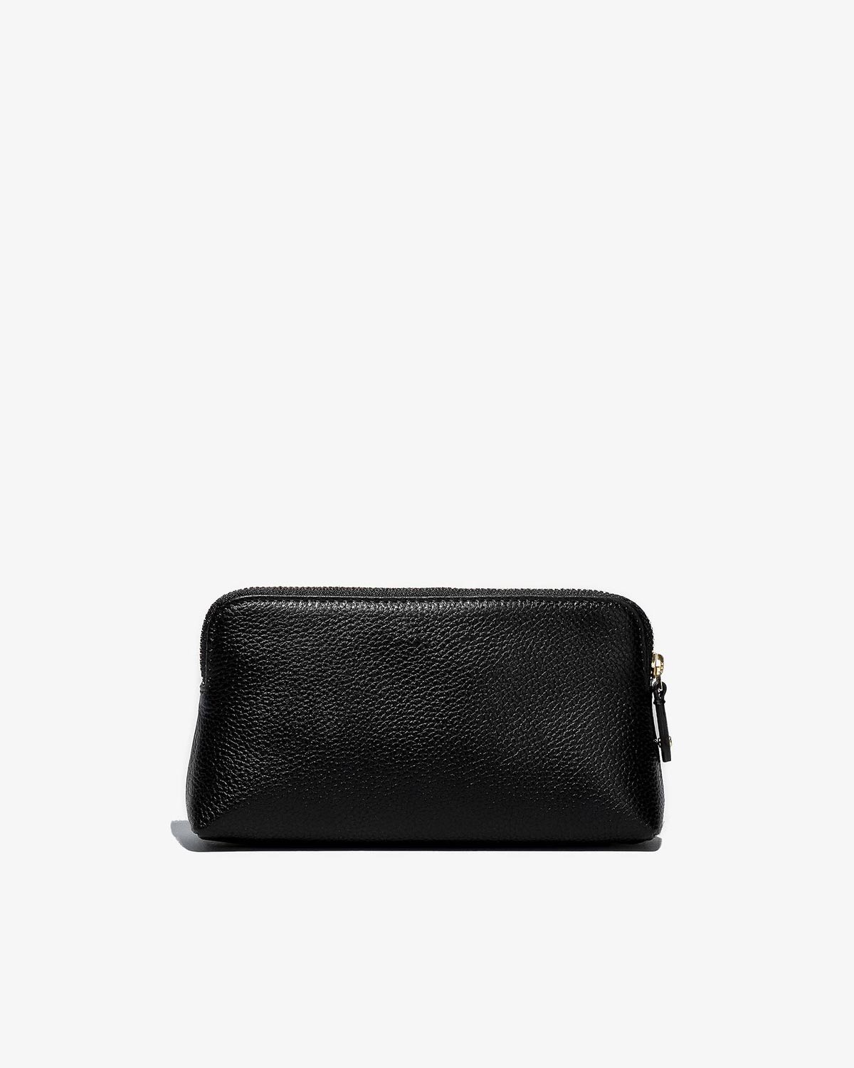 Cosmetic Traveler - Black Leather with Gold