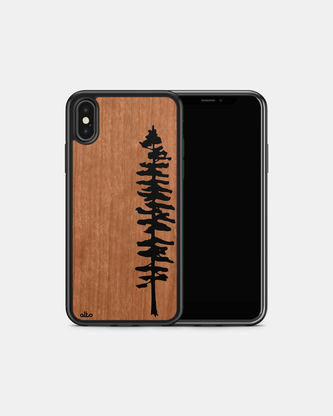 Durable Real Wood Phone Case - Cherry Sitka