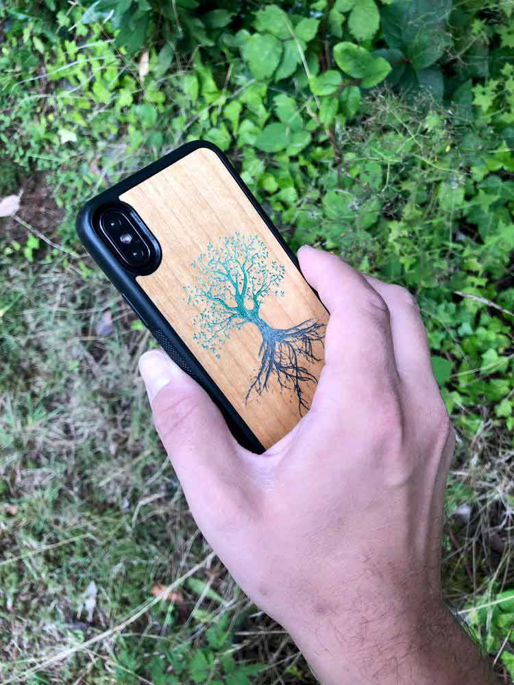 Durable Real Wood Phone Case - Tree Of Life