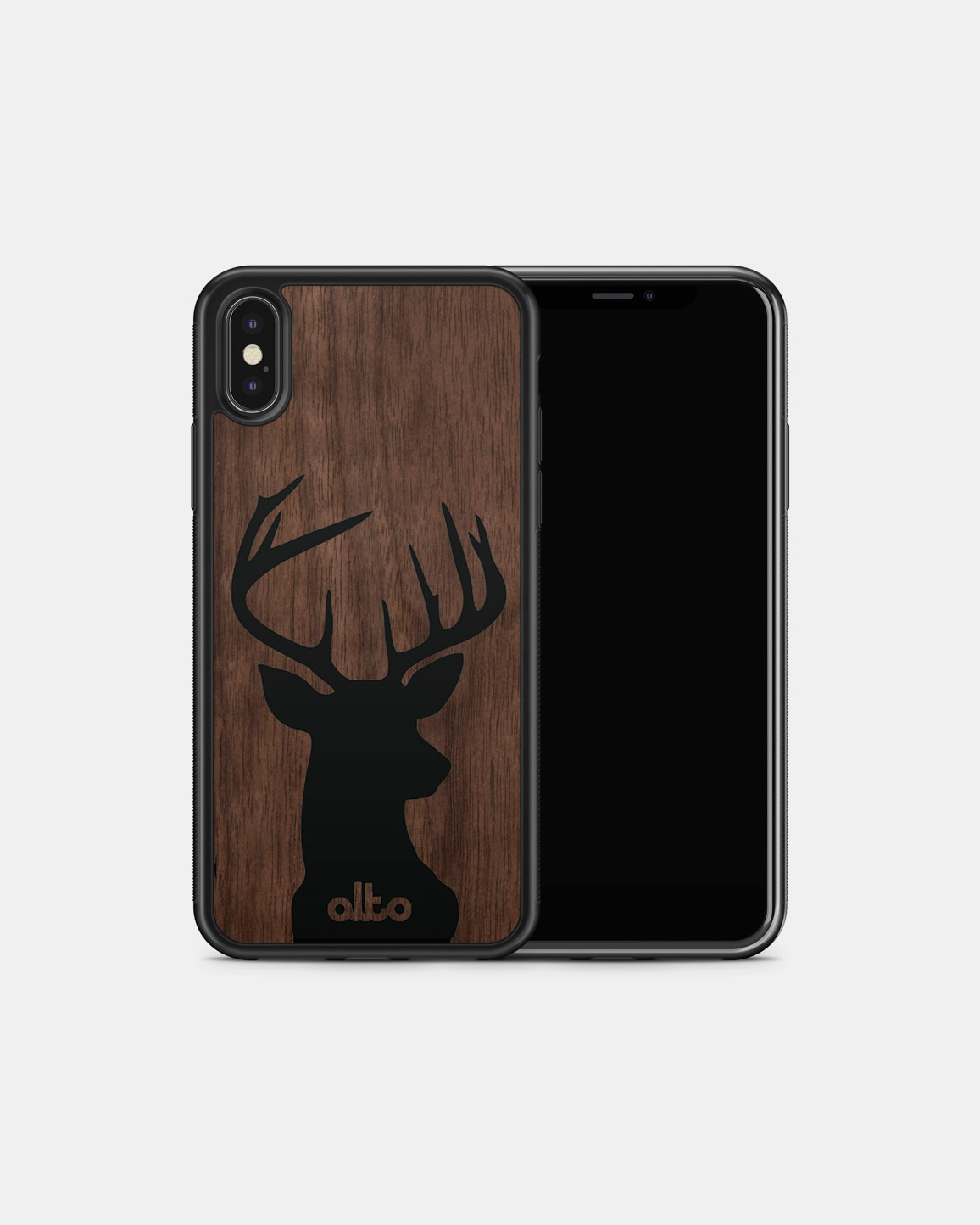 Durable Real Wood Phone Case - Walnut Buck
