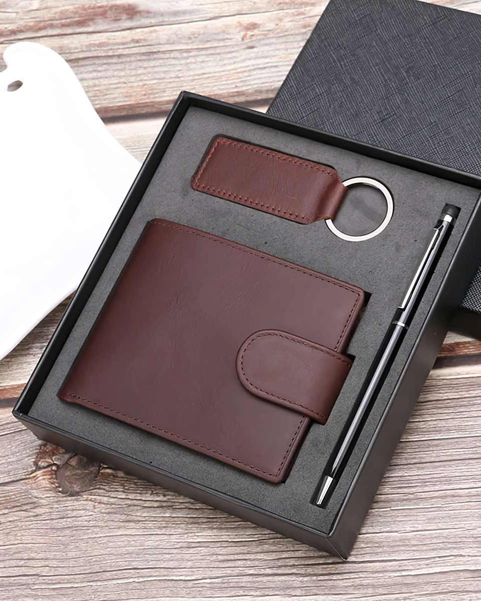 Genuine Leather Wallet Gift Set
