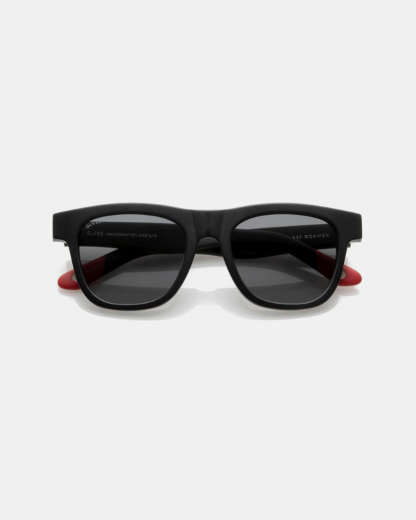 GLVSS Sunglasses Roamer Matter Blk-Red/Smoke