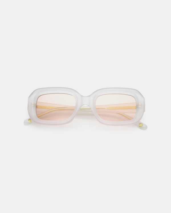 GLVSS The Crush Clear White-Pink Sunglasses