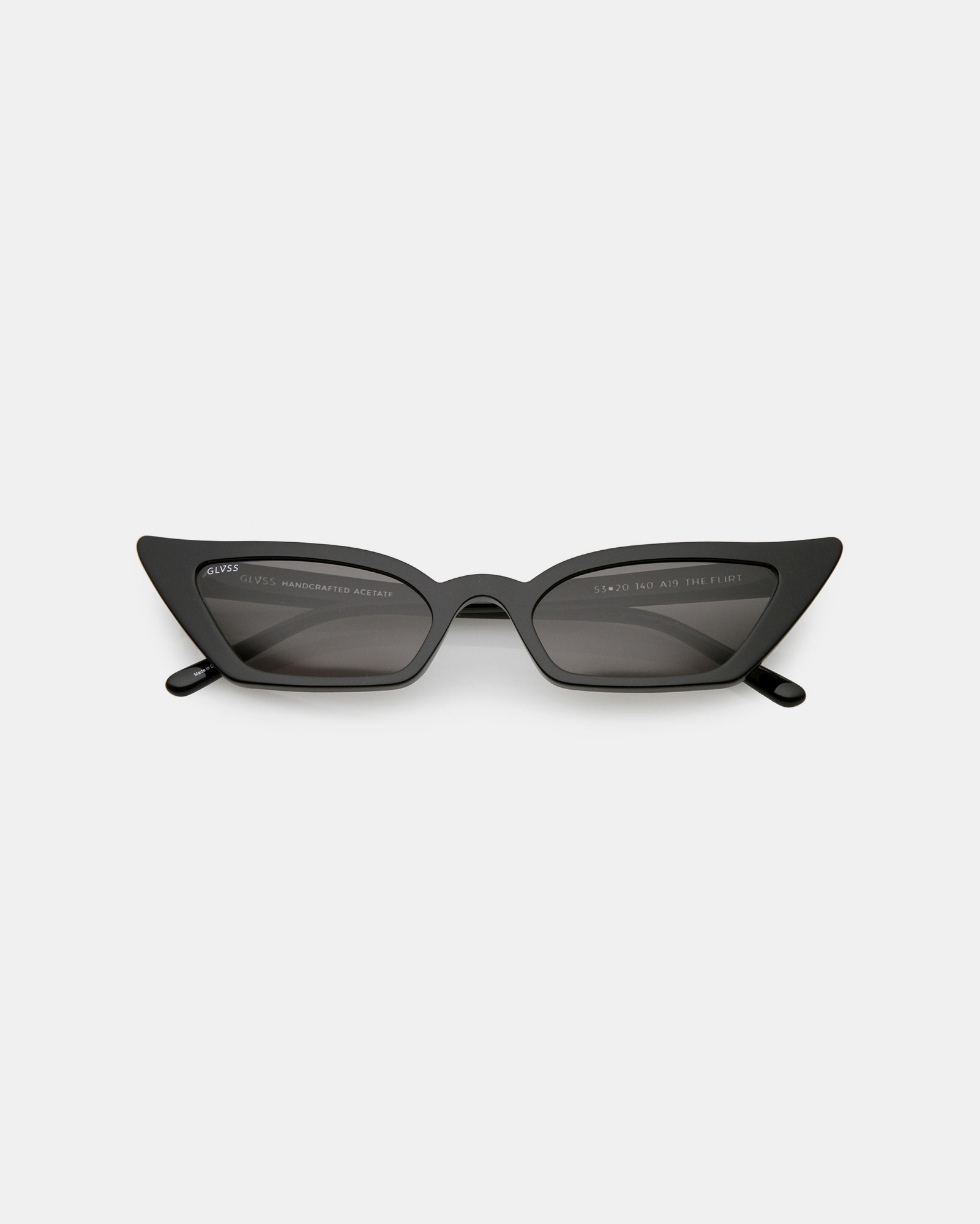 GLVSS The Flirt Black Sunglasses
