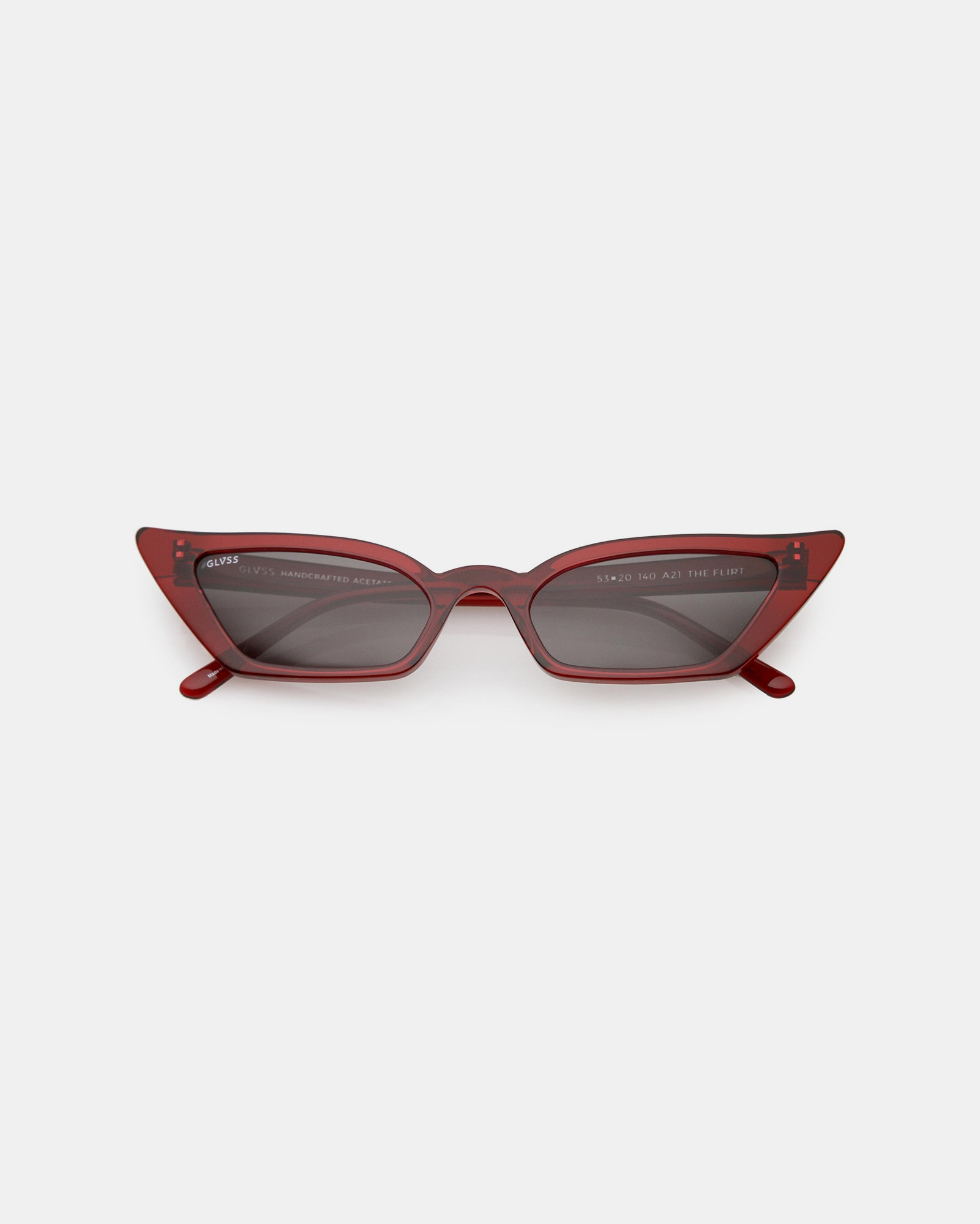 GLVSS The Flirt Clear Red Sunglasses