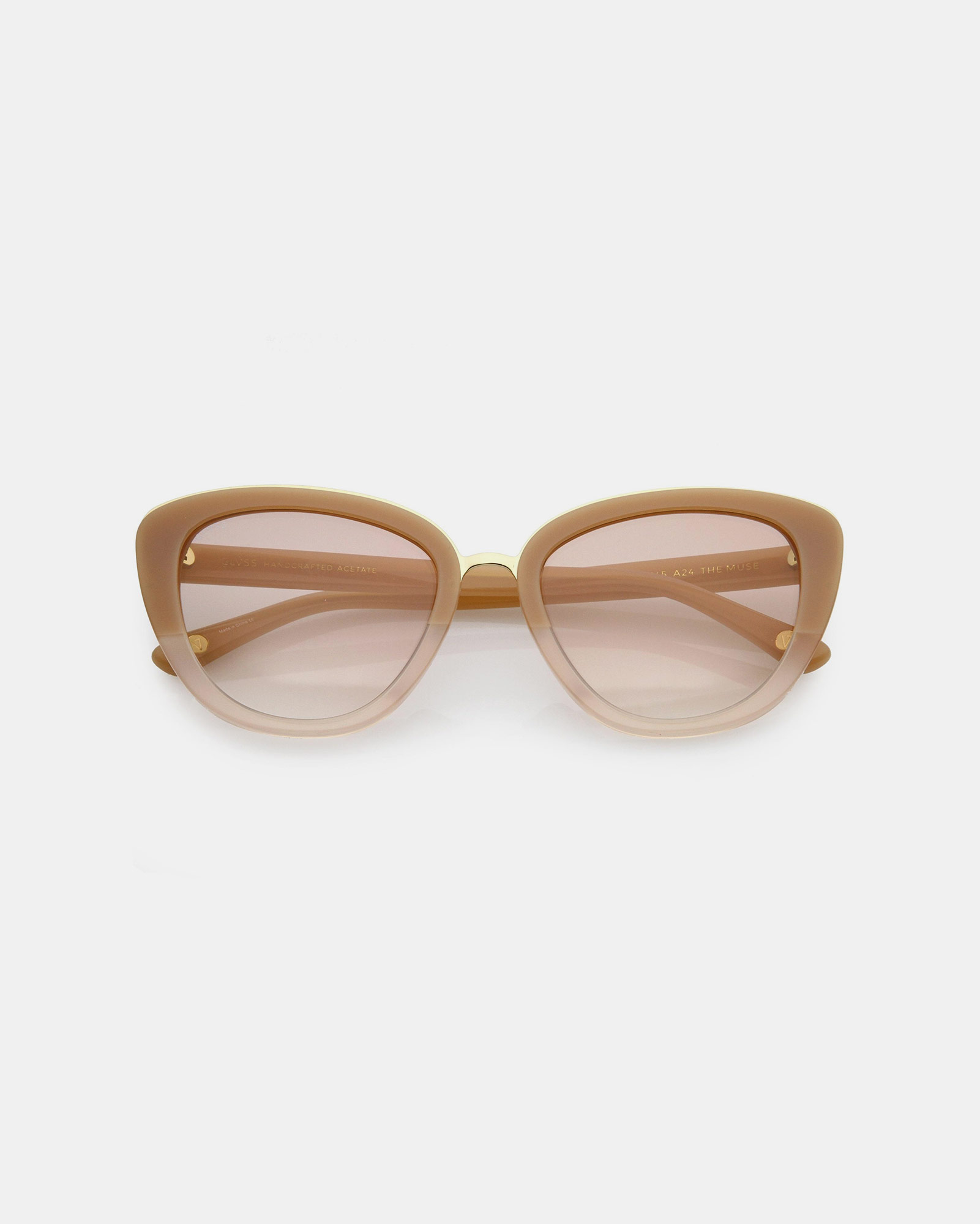 GLVSS The Muse Nude Clear-Gold Sunglasses
