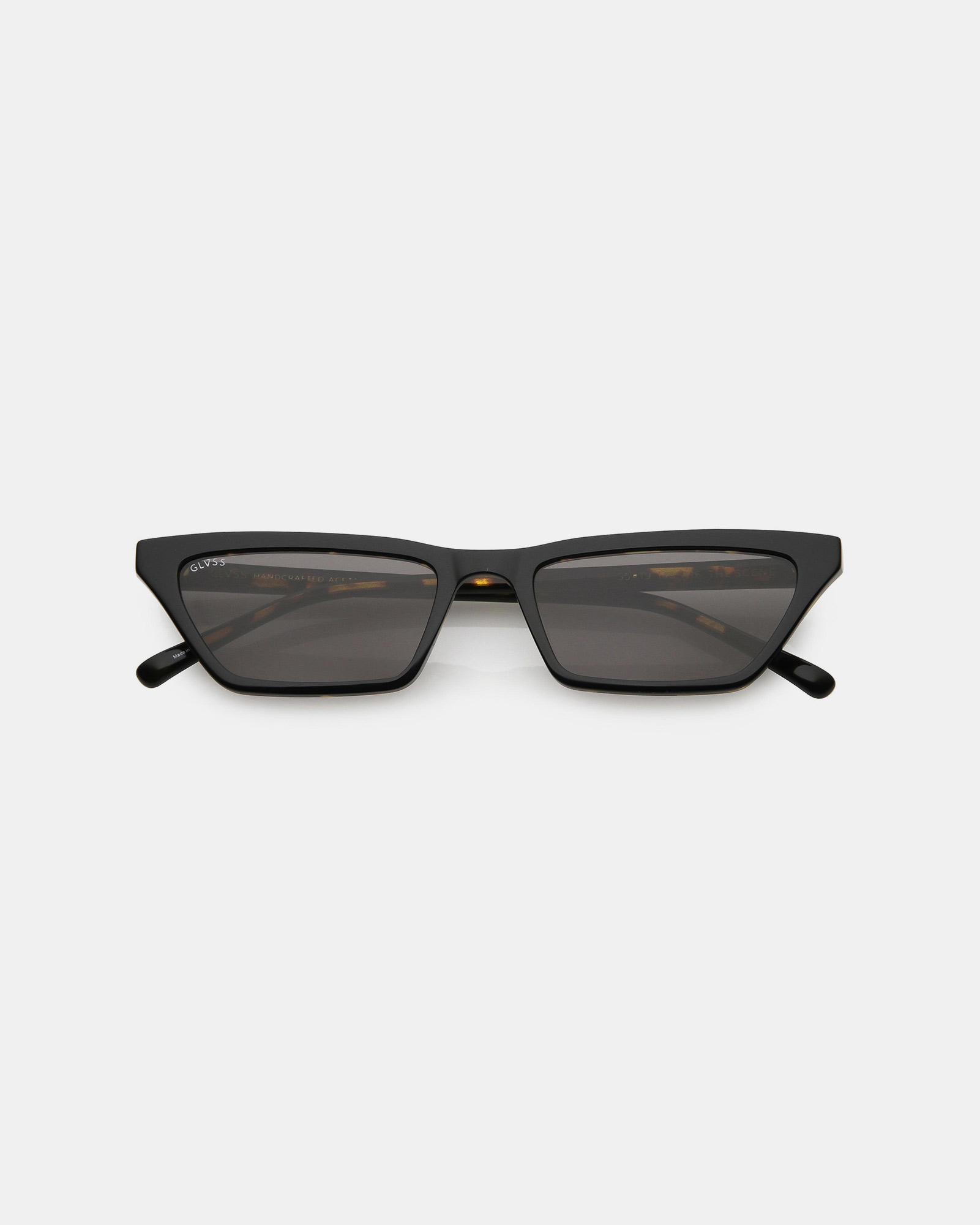 GLVSS The Scene Black-Tortoise Smoke Sunglasses