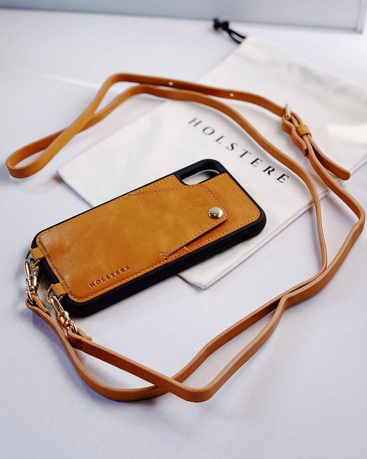 Holstere iPhone Case Crossbody - The London (Tan)