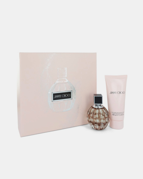 Jimmy Choo by Jimmy Choo -- Gift Set - 2 oz Eau De Parfum Spray + 3.3 oz Body Lotion for Women