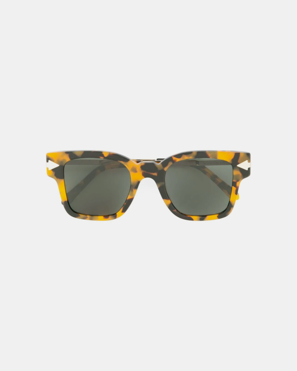 Karen Walker Julius Tortoise Frame Green Sunglasses