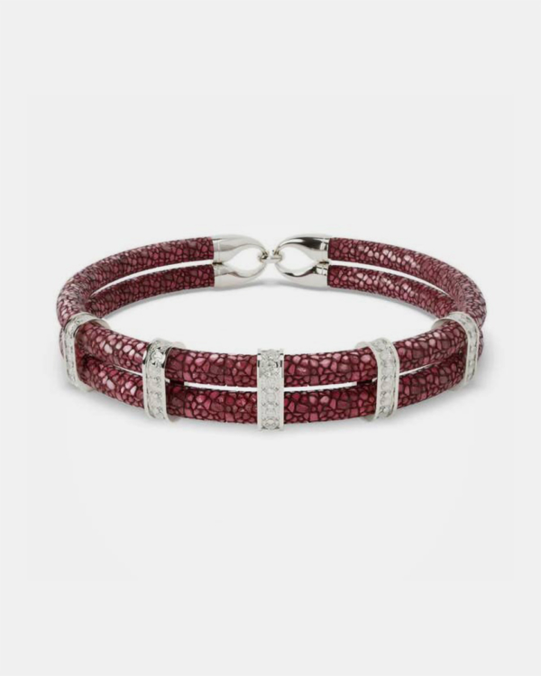 Karma - Bordeaux Stingray Bracelet