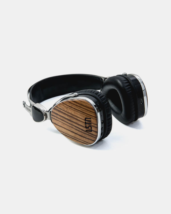 LSTN Zebra Wood Troubador Wireless Headphones