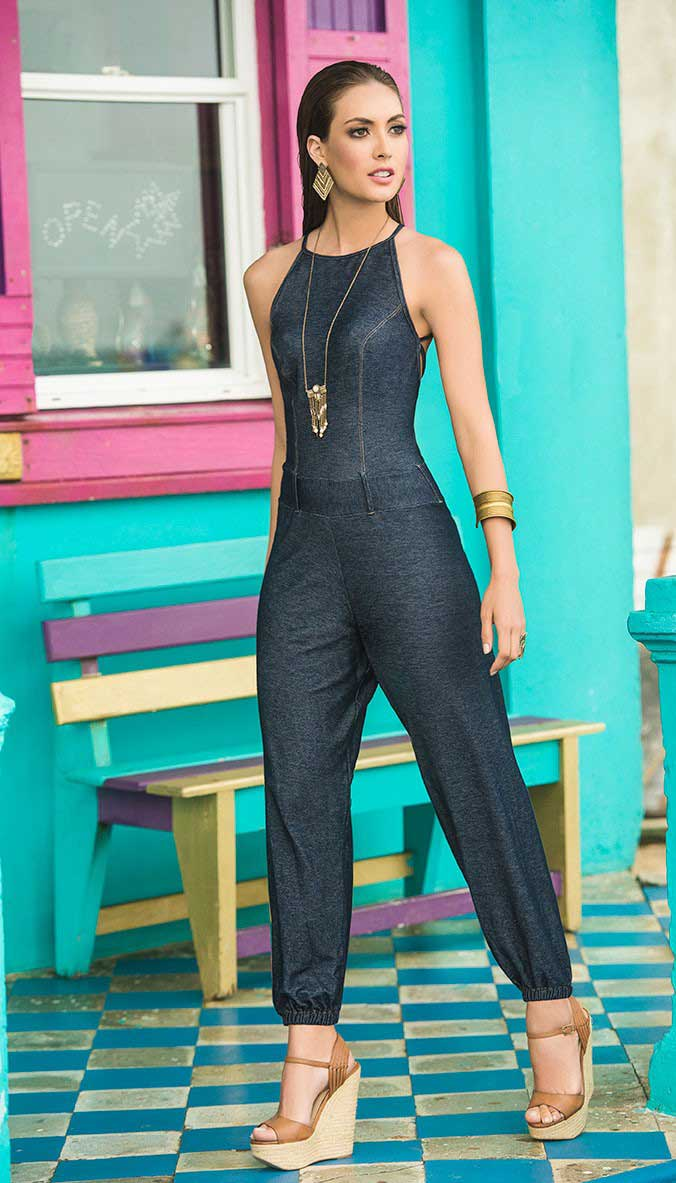 Mapale Denim Jumpsuit