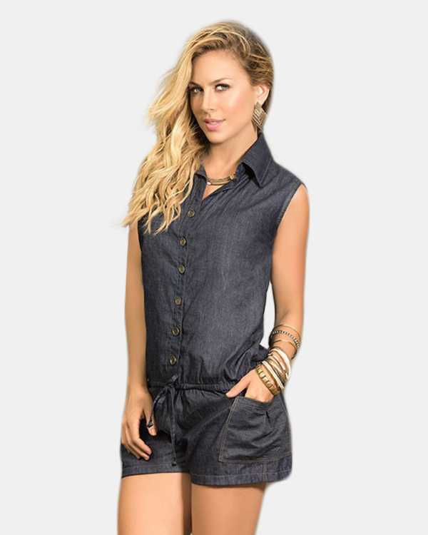 Mapale Denim Romper