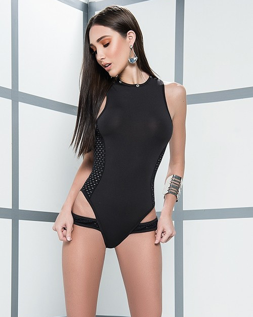 Mapalé Two-Piece Bodysuit - Black