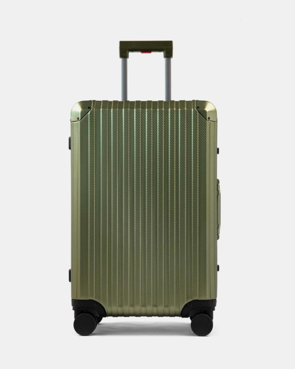 Trek Aluminum Suitcase - Army Green