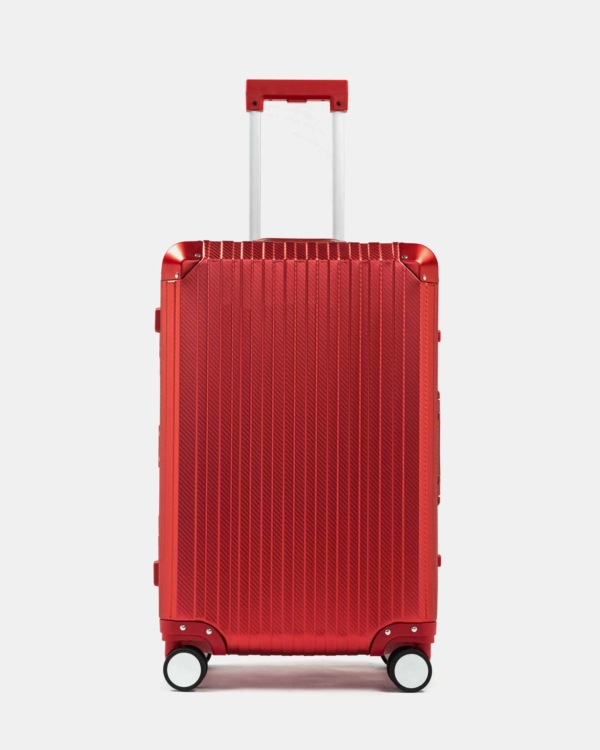Trek Aluminum Suitcase - Red