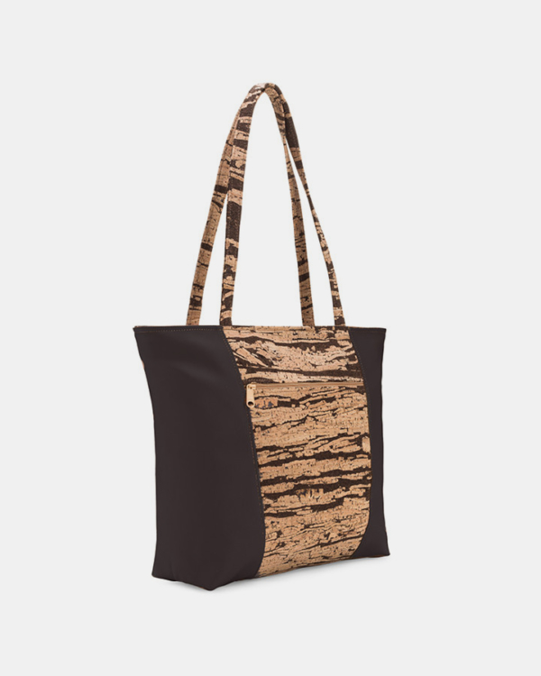 Natalie Therese Large Tote Bag - Bark Cork