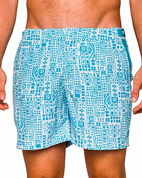 Paraiba Beachwear Men's Shorts - Rey Azteca White