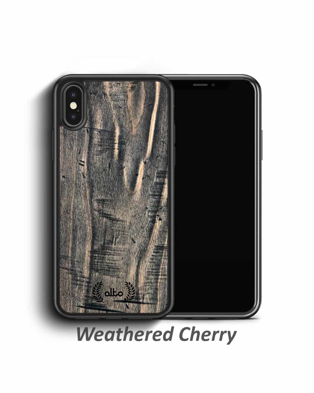 Real Weathered Wood Phone Cases - Cherry
