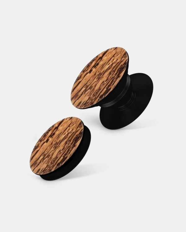 Real Wood - Pop Socket Style Phone Grips