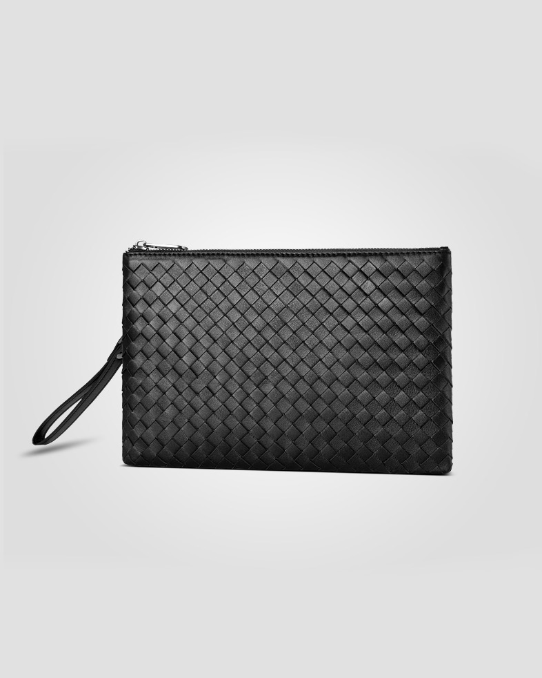 Sheepskin Leather Men's Business Clutch