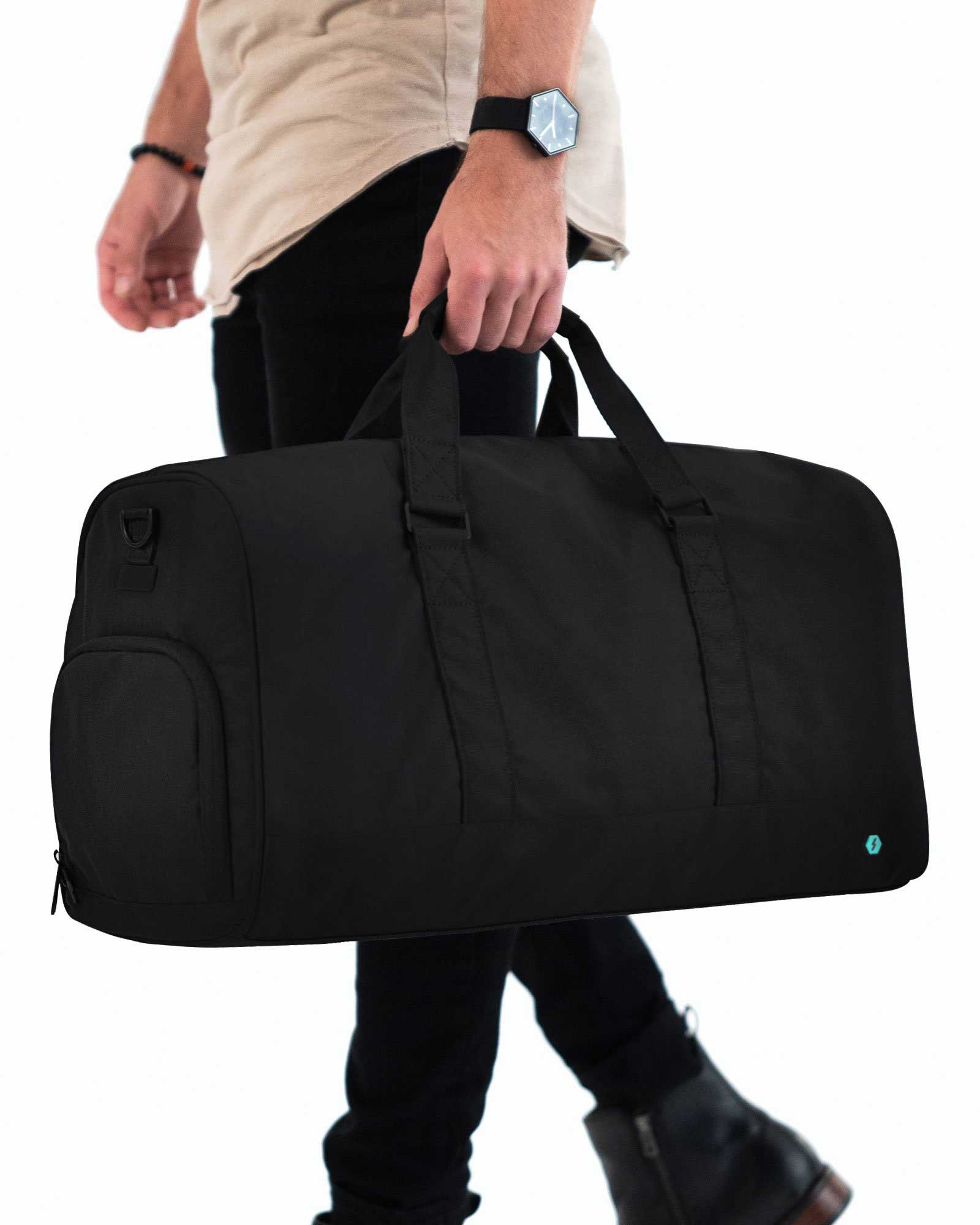 The Weekender Duffel Bag - Black