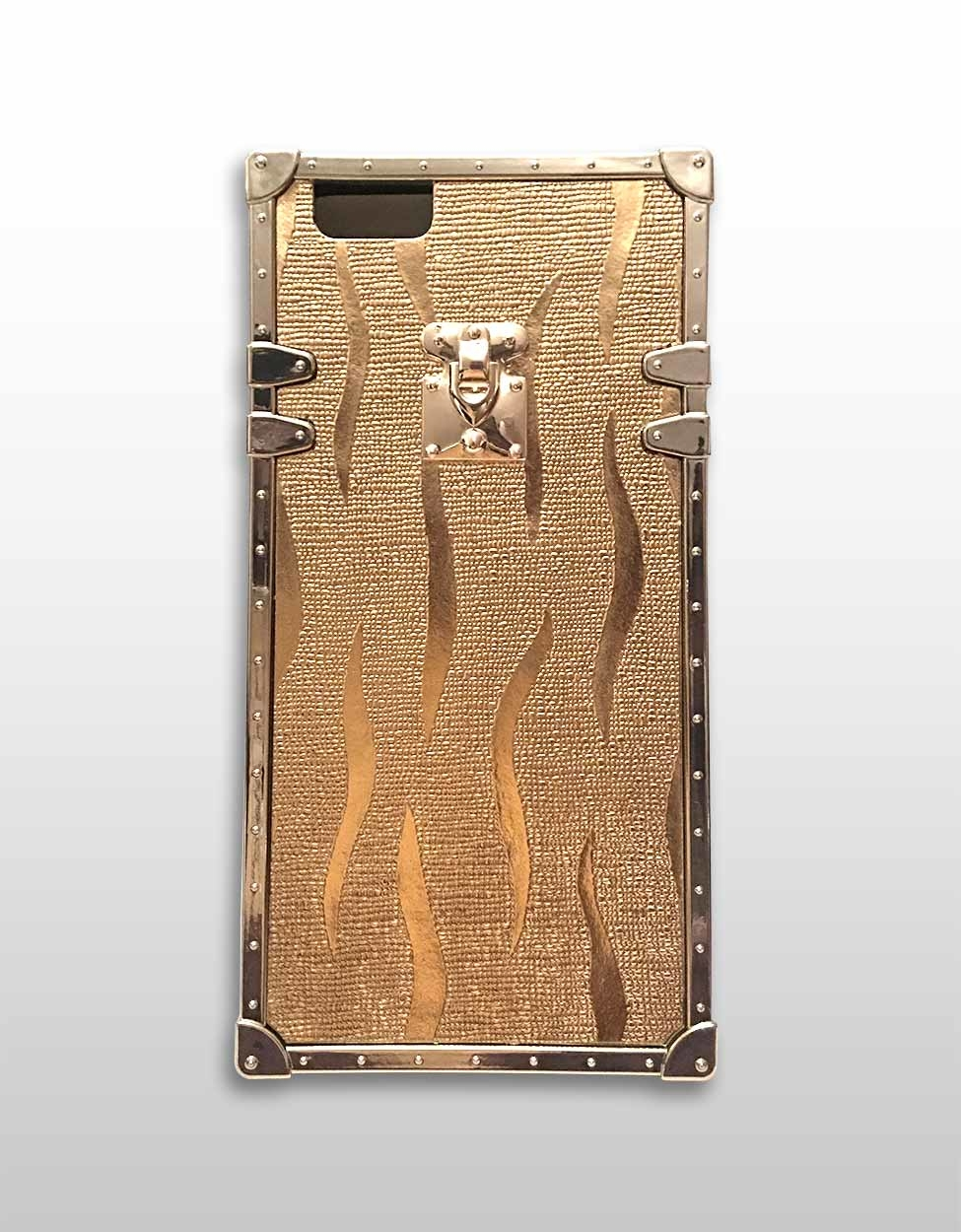 Embossed Gold Square iPhone Case 1