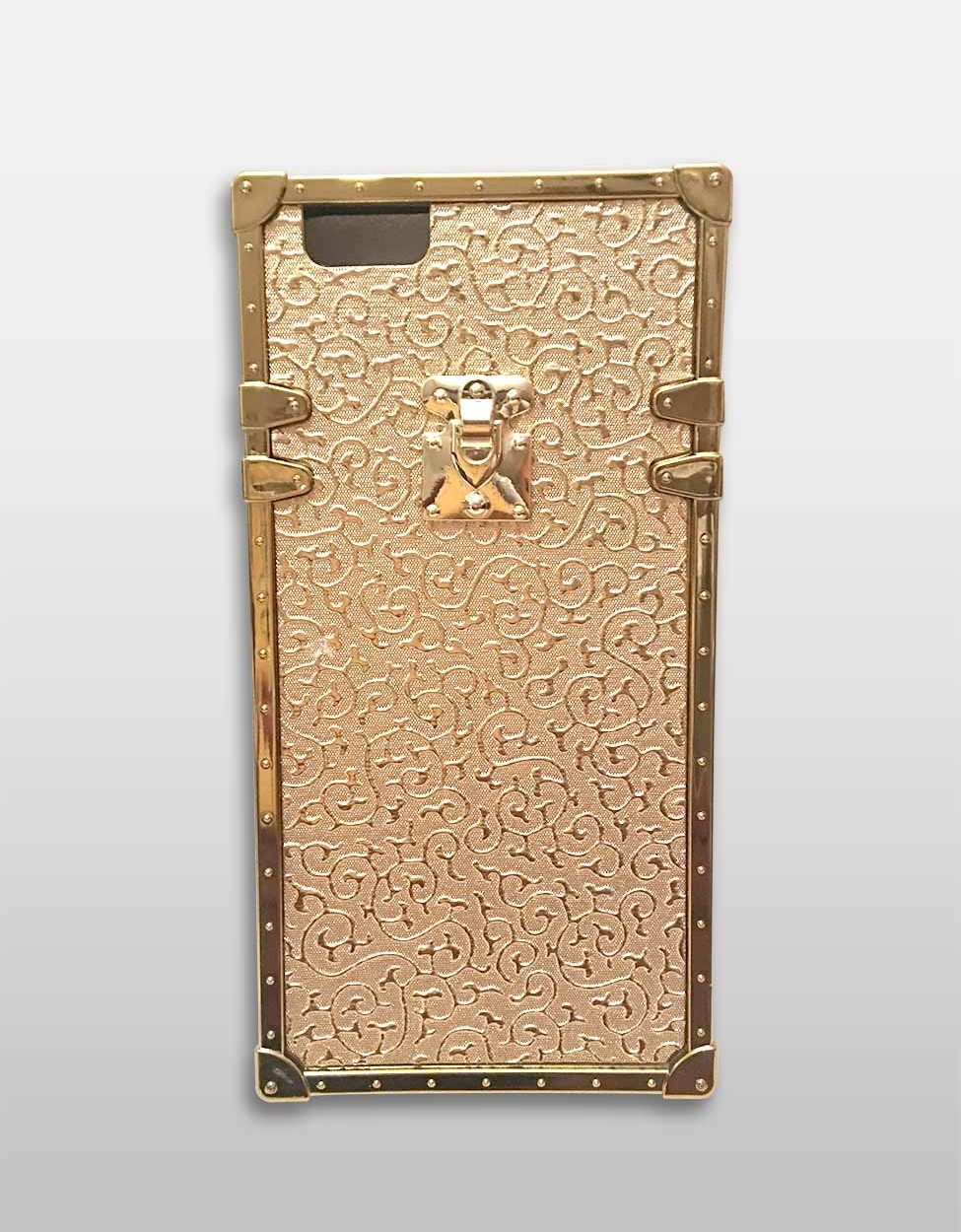 Embossed Gold Square iPhone Case