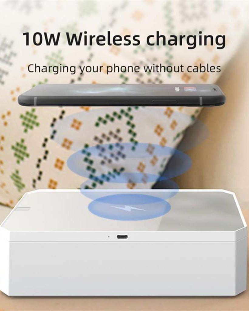 Qi Wireless Fast Charging Charger UV Sanitizer