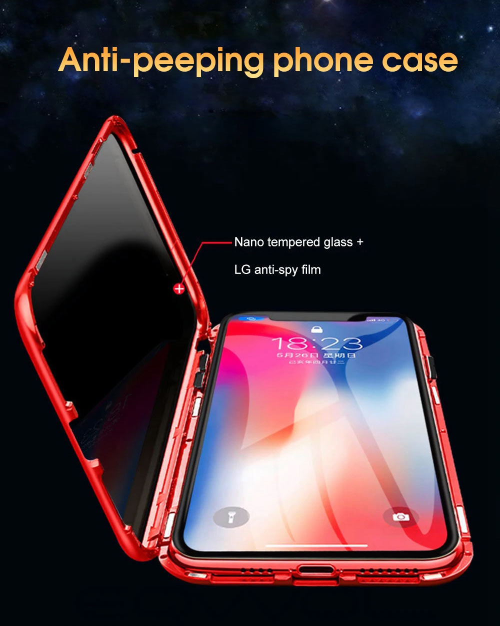 Anti-Peeping Privacy Case For iPhone